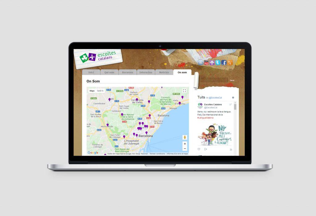 Diseño web Drupal Barcelona - Escoltes catalans