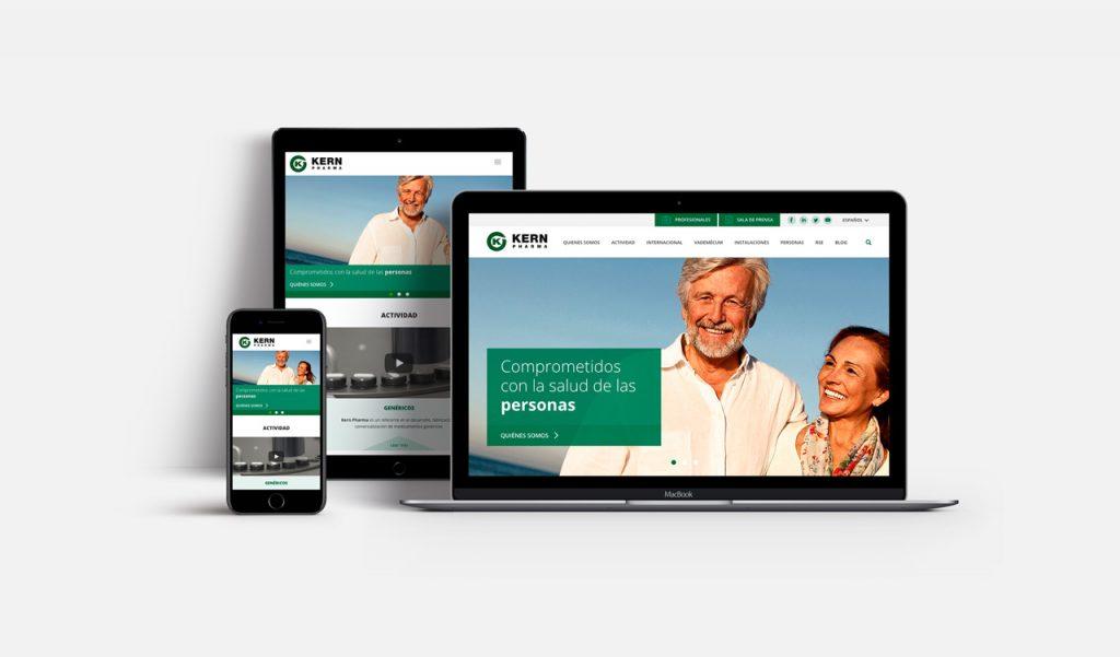 Kenrpharma diseño web